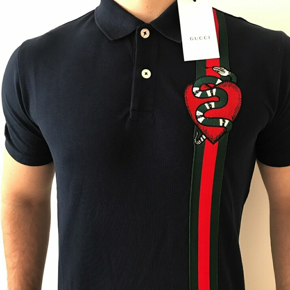 53bdb822a Gucci Shirts | Cotton Polo With Web Collar | Poshmark